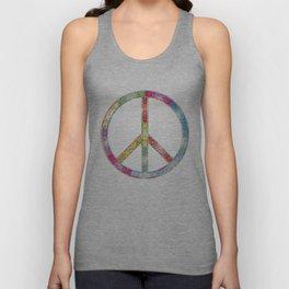 flourish decorative peace sign Unisex Tank Top