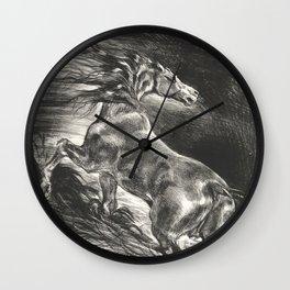 "Eugène Delacroix ""Wild Horse"" Wall Clock"