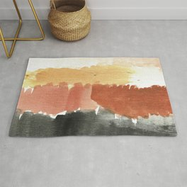 Abstract in Rust n Clay Rug