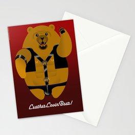 LEATHER LOVIN BEAR Stationery Cards