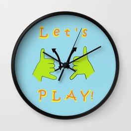 ASL Let's PLAY! Wall Clock