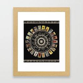 The Major Arcana & The Wheel of the Zodiac Framed Art Print
