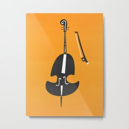 Double Bass Jazz Metal Print