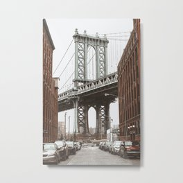 Manhattan Bridge New York Metal Print