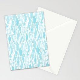 Sand Flow Pattern - Light Blue Stationery Cards