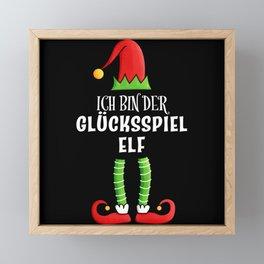 Glücksspiel Elf Partnerlook Weihnachten Framed Mini Art Print