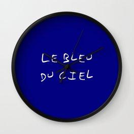 Le bleu du ciel - blue sky Wall Clock