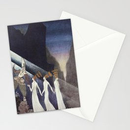 Kay Nielsen as soon as they pulled the rope Stationery Cards