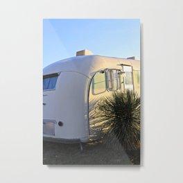 White Cactus Trailer Metal Print