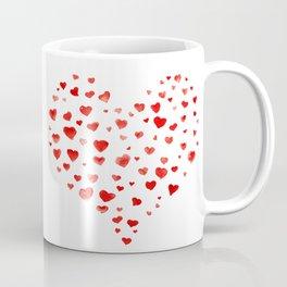 Be My Valentine! Watercolor hearts Coffee Mug