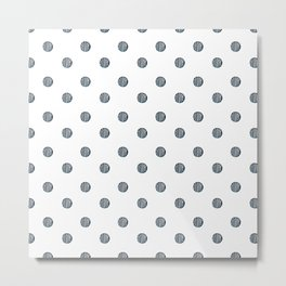 Hand Drawn Polka Dots Pattern Metal Print