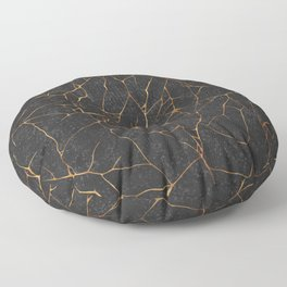 Kintsugi Dark Floor Pillow