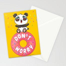 Panda on donut Stationery Cards