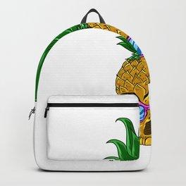 Skull Pineapple With Sunglasses - Pineapple Sunglasses Backpack