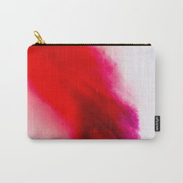 Slow Burn: simple abstract ink on paper in red, purple, and pink Carry-All Pouch