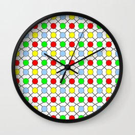 new polka dot 12 - multicolor Wall Clock