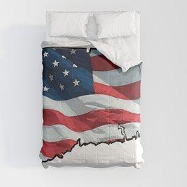 Patriotic Connecticut Comforters