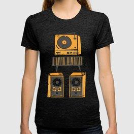 Vinyl Deck And Speakers T-shirt