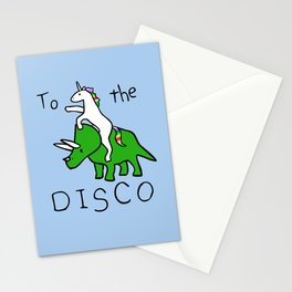 To The Disco (Unicorn Riding Triceratops) Stationery Cards