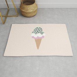 Leopard Ice Cream cone animal print summer trend girls pink peach Rug