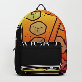 Cocktail Time Orange Glass Tequila Sunrise Backpack