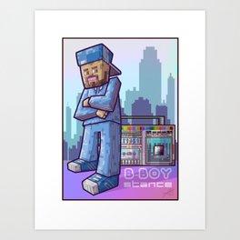 BBoy Stance Art Print