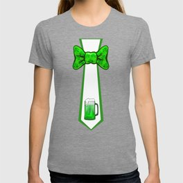St Patricks Day Necktie and Bowtie Green Beer Mug T-shirt