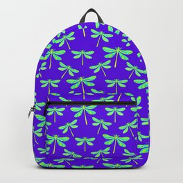 Pretty lovely stylish delicate gorgeous green dragonflies elegant purple art nouveau pattern Backpack