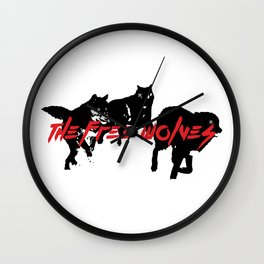 Running Wolves [White] Wall Clock