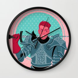 Lieutenant of the Bull's Chargers Wall Clock