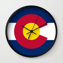 Colorado State Flag Wall Clock