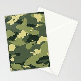Light Green Camo Stationery Cards