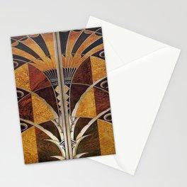 Art nouveau,Original wood work, elevator door, NYC Building Stationery Cards