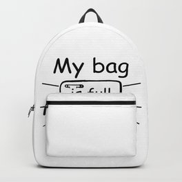 My Bag Is Full, Baby Diaper, Gamer Gift, Video Game, Gaming Backpack
