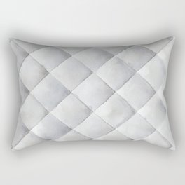 Gray Quilt Geometric pattern Rectangular Pillow
