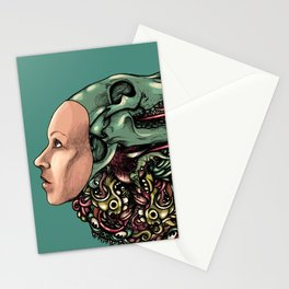 Hat of bones color Stationery Cards
