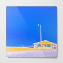 Short Beach Pavilion Metal Print