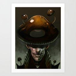 Mushroom Magician Art Print