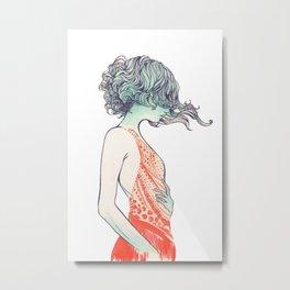 Red Dress Metal Print