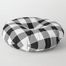 Buffalo Check - black / white Floor Pillow