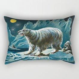 Arctic Polar Bears Rectangular Pillow