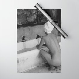 Bath in Paris, Cold Water Flat, Female Nude black and white art photography / photograph Wrapping Paper
