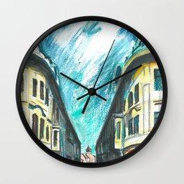 Mirror street Wall Clock