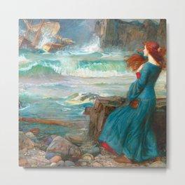 "John William Waterhouse ""Miranda - The tempest"" Metal Print"
