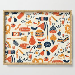 Cool, Fun & Colorful Retro Diner Pattern Serving Tray