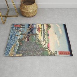 Kawanabe Kyosai - Tokaido, Okazaki - Digital Remastered Edition Rug