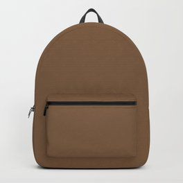 Grounded Solid Color Accent Shade Matches Sherwin Williams Jute Brown SW 6096 Backpack