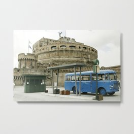 Castel Sant Angelo between past and present in color Metal Print