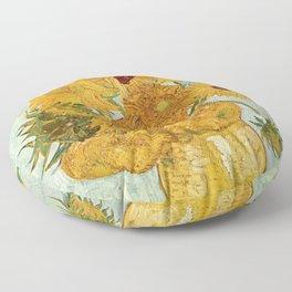 Van Gogh - sunflowers Floor Pillow