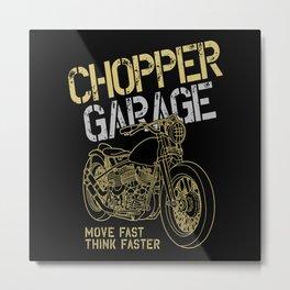 Chopper Garage Metal Print